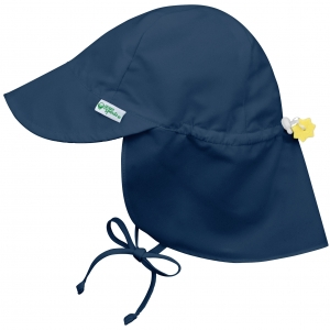 flap sun protection hat - navy